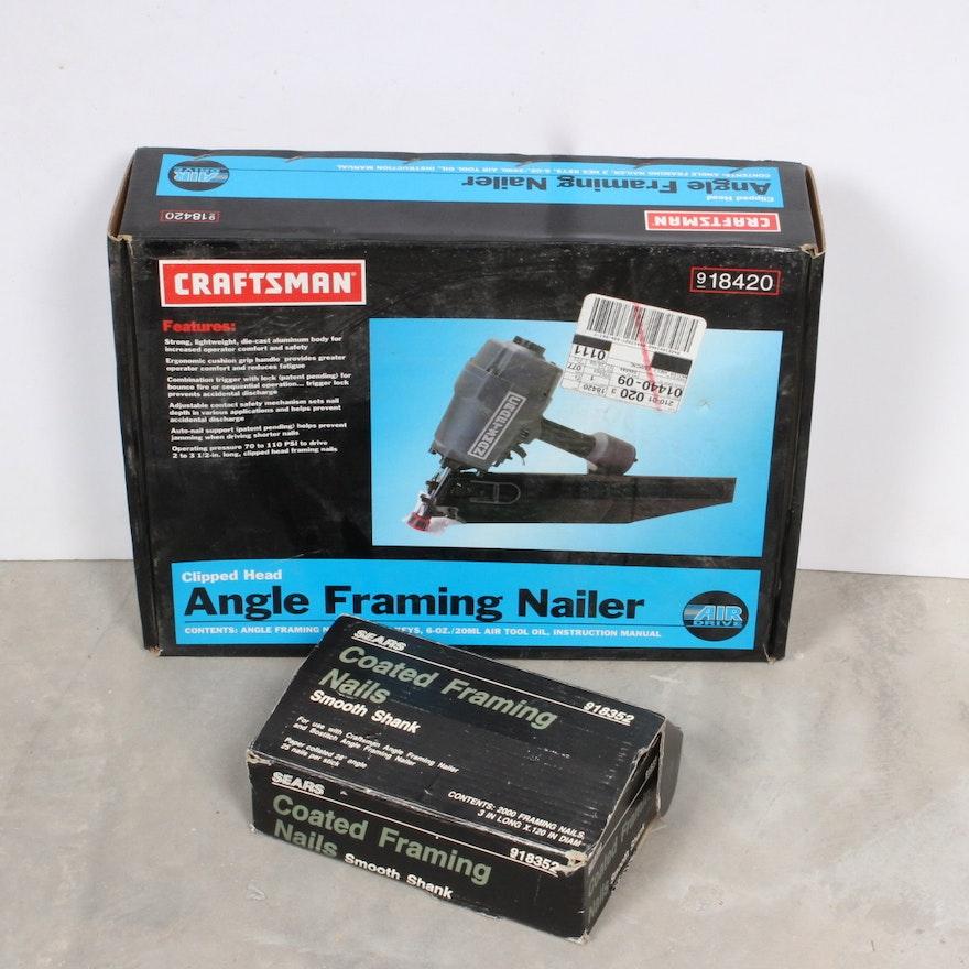 Craftsman Pneumatic Angle Framing Nailer : EBTH