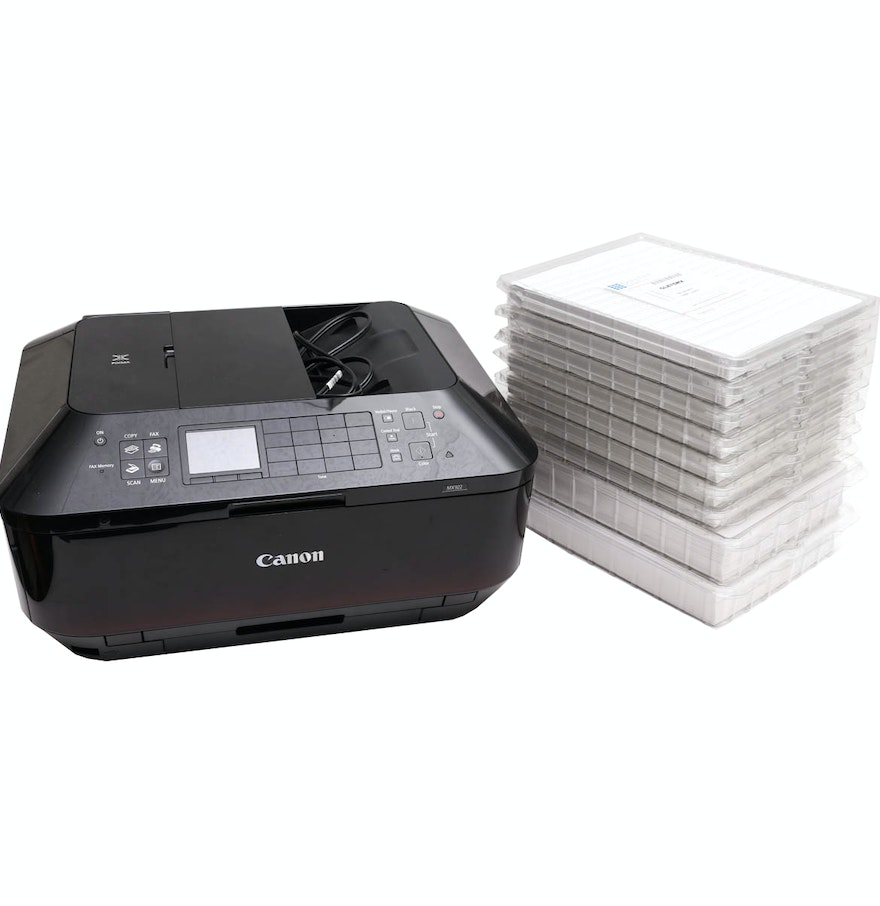 Canon pixma mx922 printer with labels ebth for Canon printer templates