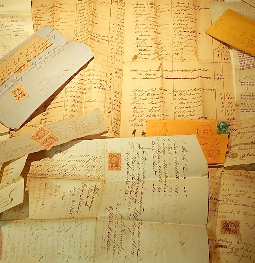 plethora of s hand written papers and documents ebth plethora of 1800s hand written papers and documents