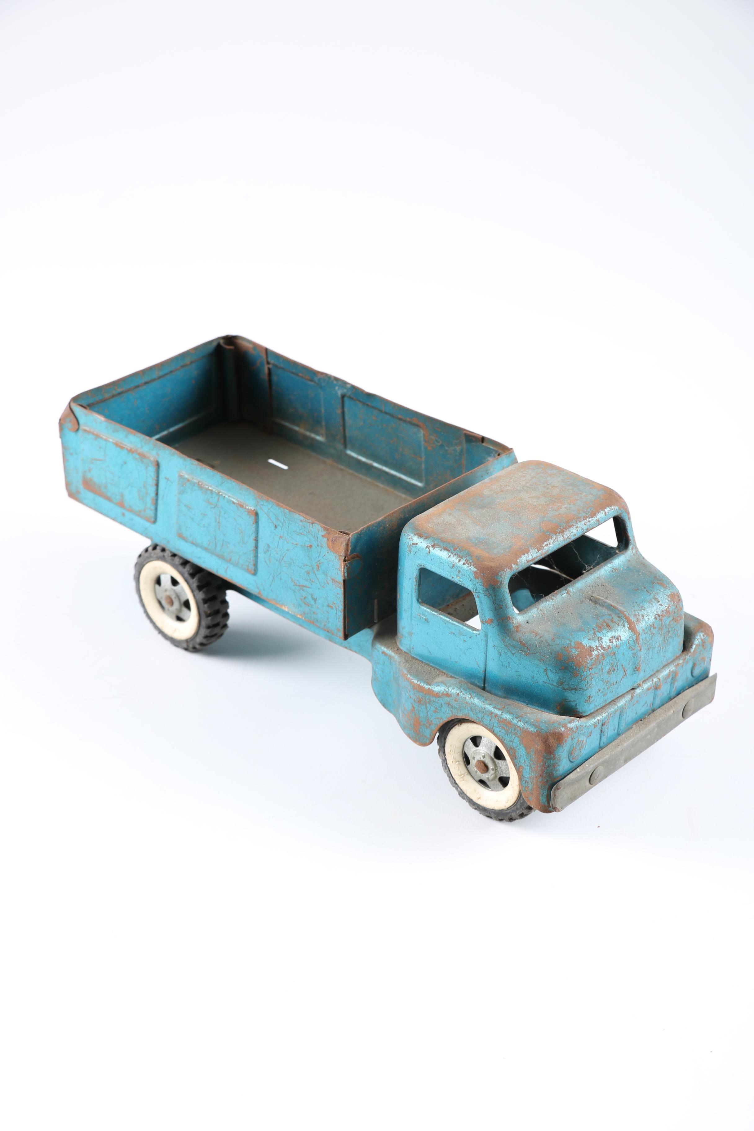 Strutco Pressed Metal Toy Dump Truck