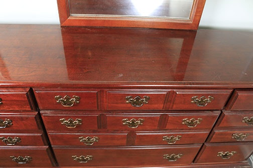 Chippendale Style Dresser With Mirror By American Drew Ebth