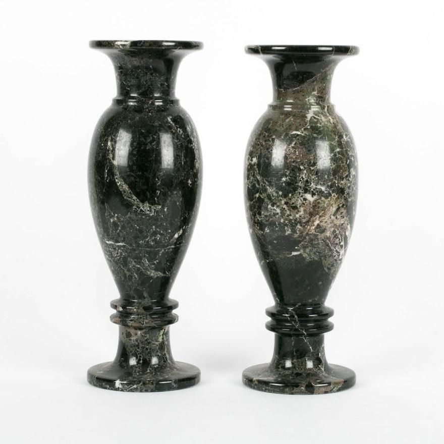 Pair Of Marble Vases Ebth