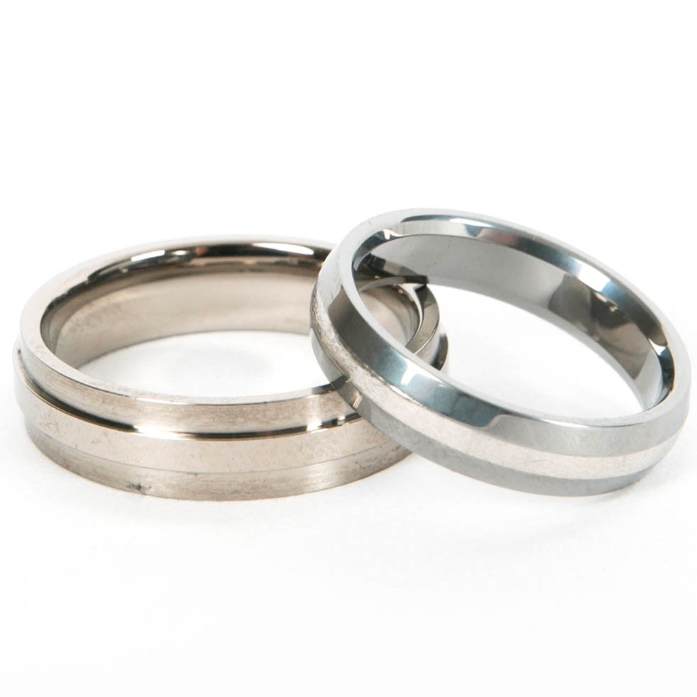titanium and tungsten wedding bands ebth