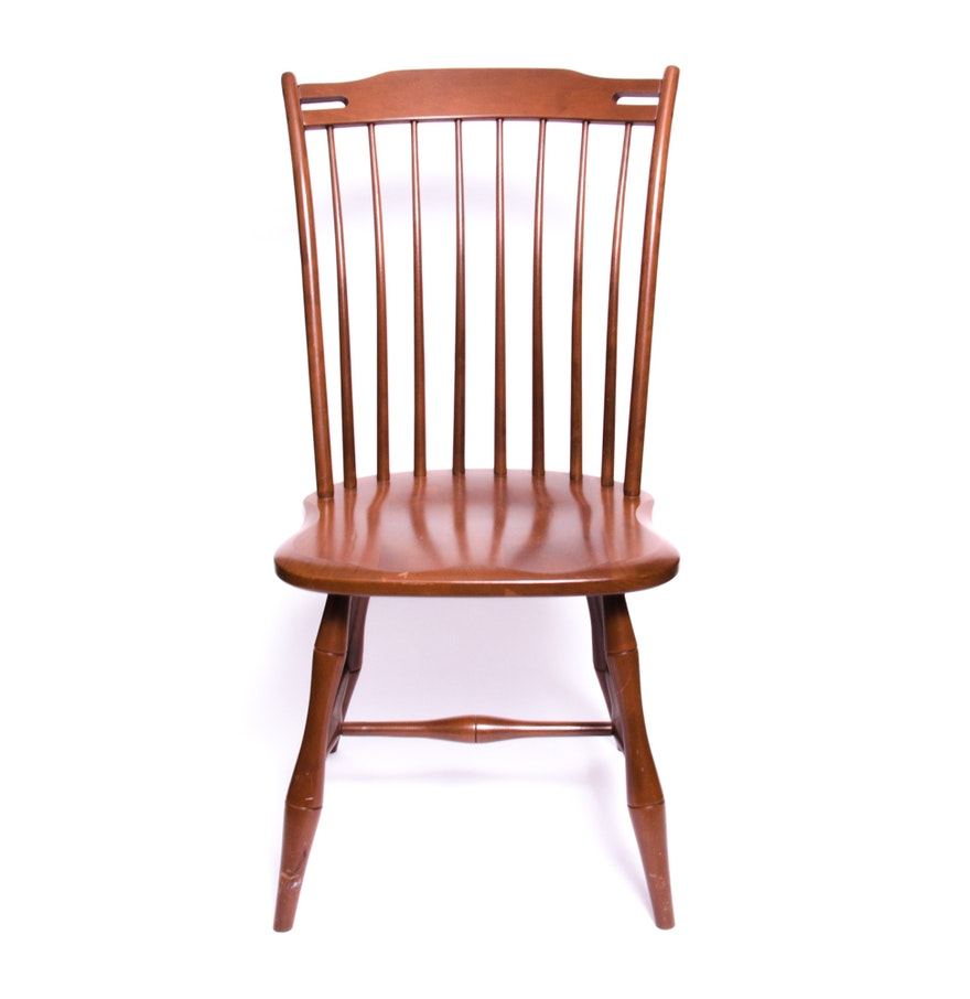 Spindle back wooden chair ebth