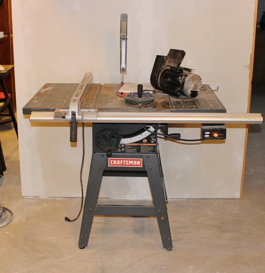 Craftsman Table Saw With Work Stand Extended Table And