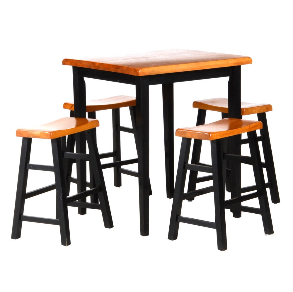 Bistro Table With Four Stools Ebth