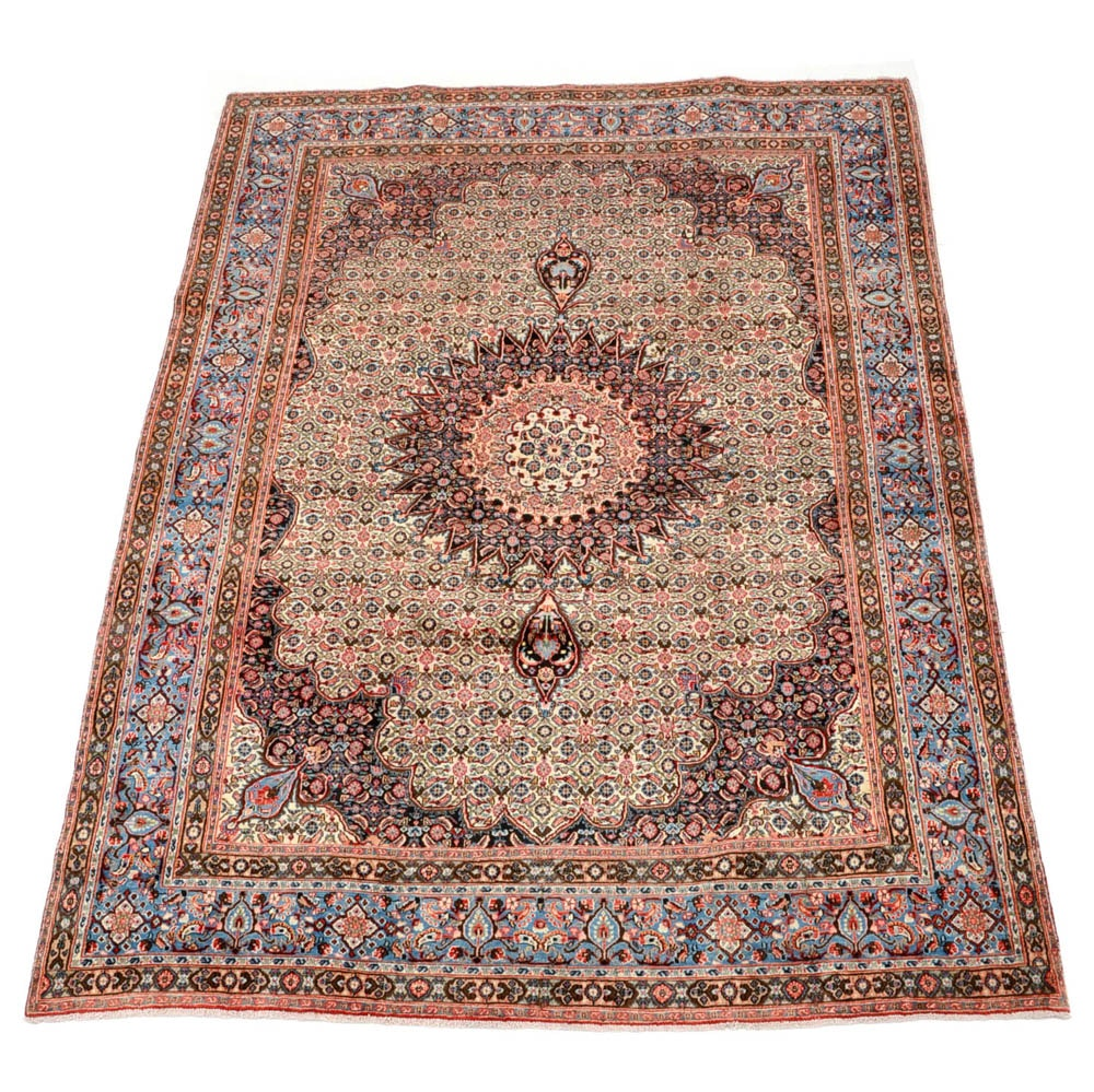 Persian Moud Hand Woven Wool Area Rug