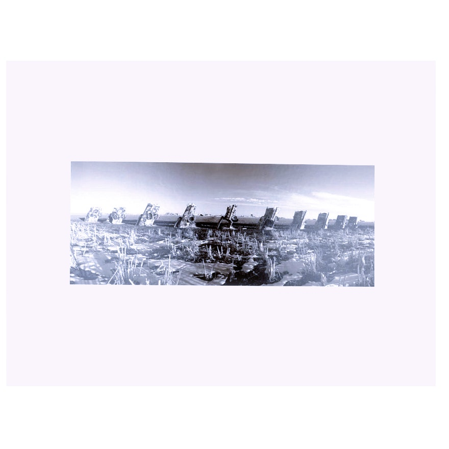 Roger Moore Gelatin Silver Print Titled Quot Cadillac Ranch
