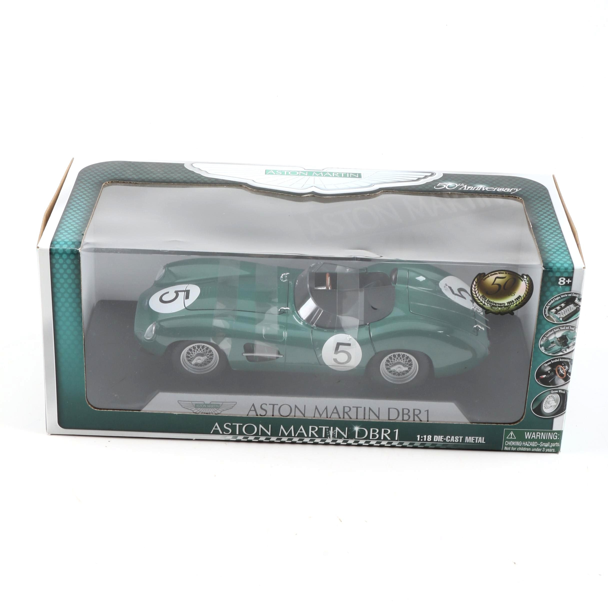Shelby Aston Martin DBR1 1:18 Scale Die-Cast Car