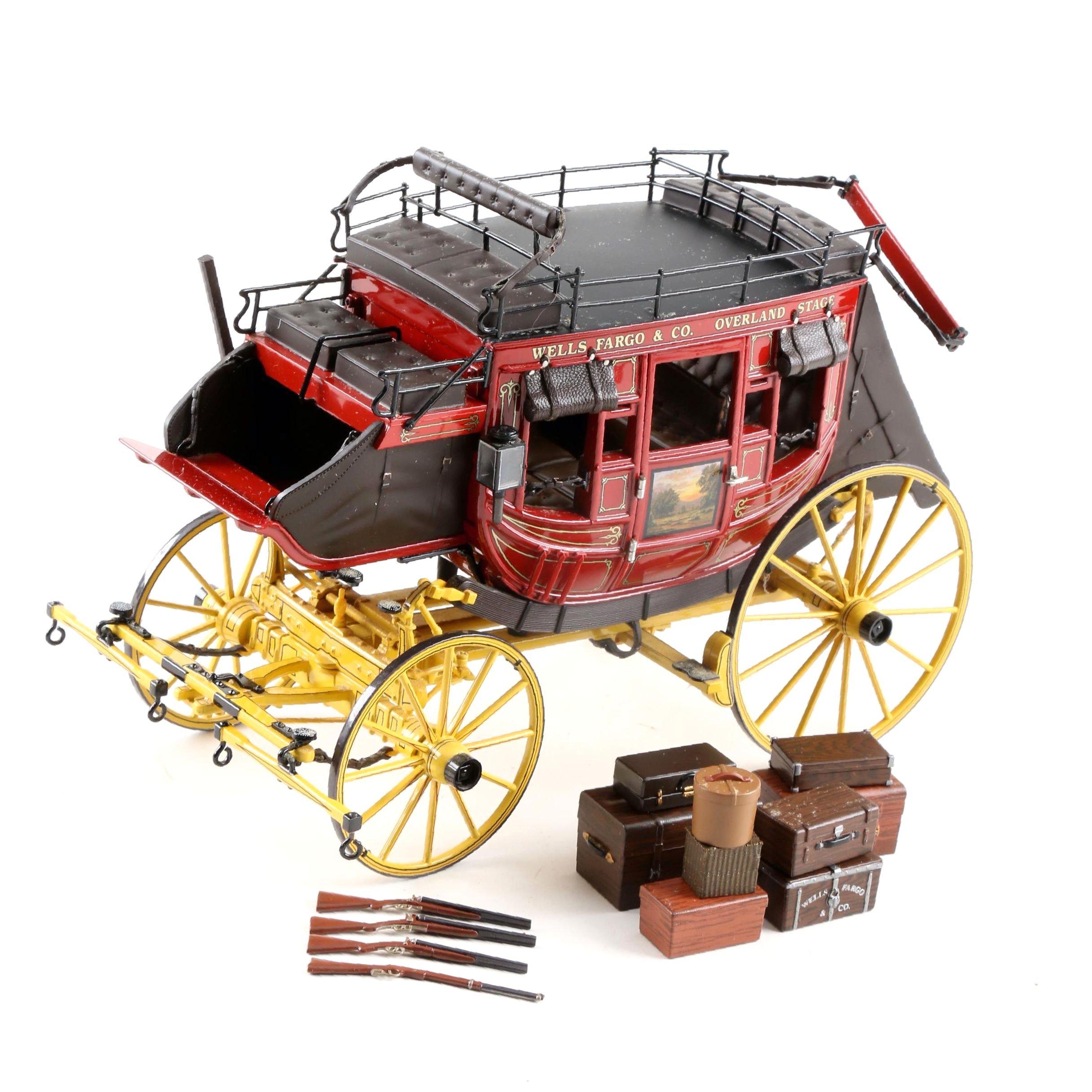 Franklin Mint Die-Cast Wells Fargo Stagecoach