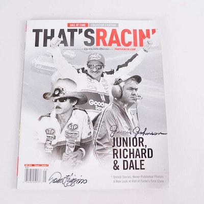 "Junior Johnson Signed ""That's Racin'"" Magazine"