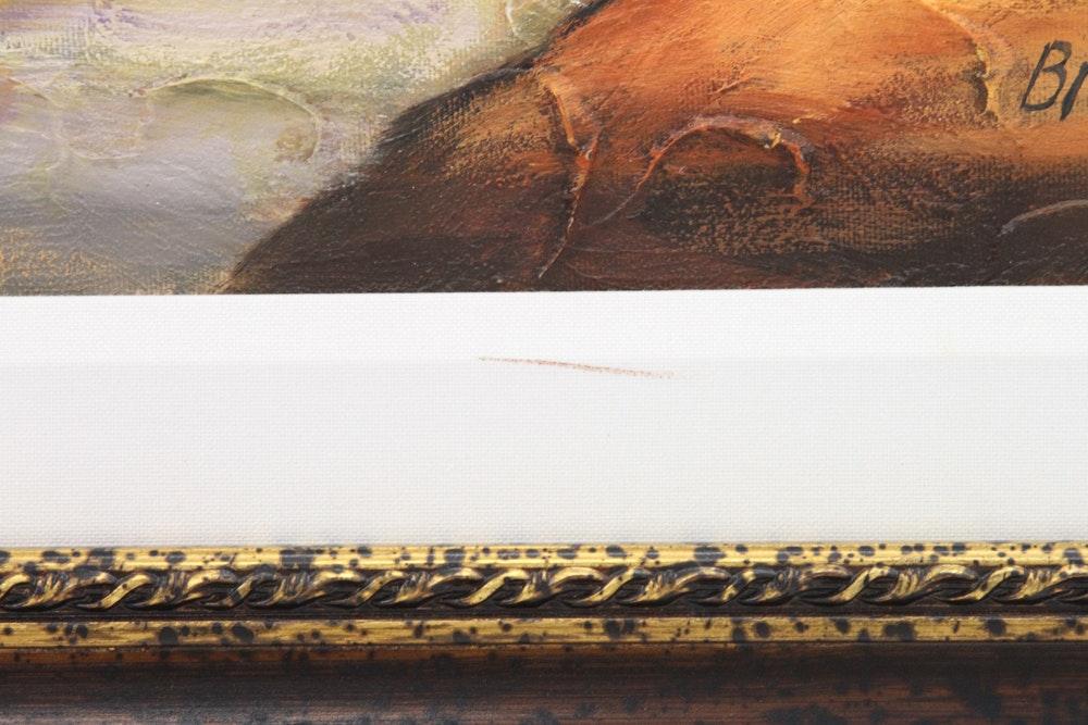 Original Signed Brodinsky Olive Path Oil On Canvas Ebth