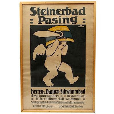 Steinerbad Pasing Serigraph Poster