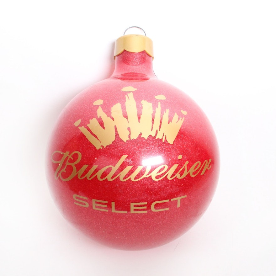 Giant Budweiser Select Christmas Ornament ... - Giant Budweiser Select Christmas Ornament : EBTH