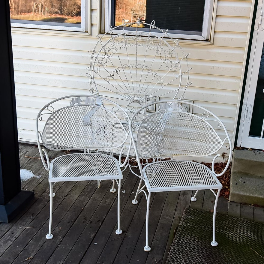 White Metal Patio Chairs