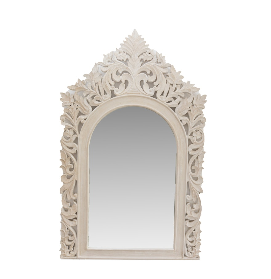 A decorative white wall mirror ebth for Fancy white mirror