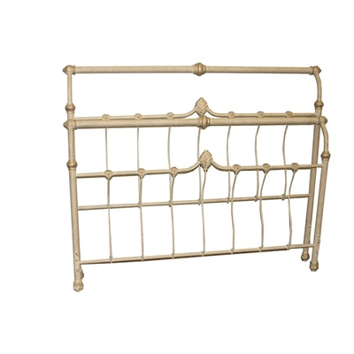 Ethan allen queen size head board and bed frame ebth - Ethan allen metal bed ...