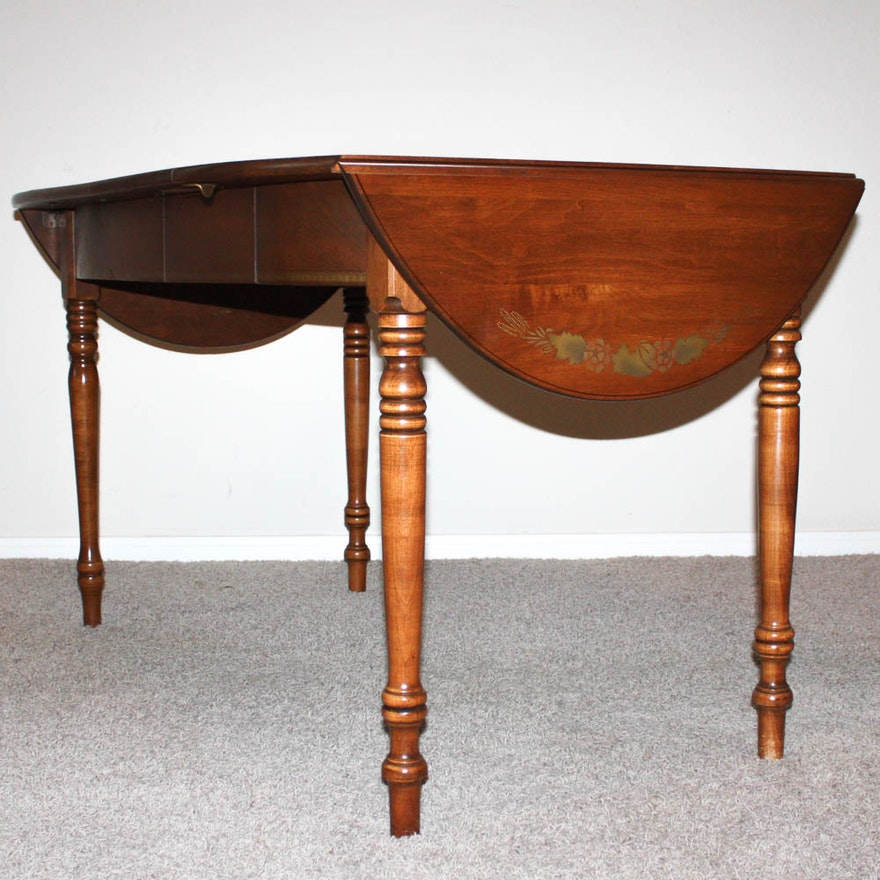 Vintage Hitchcock Style Drop Leaf Dining Table