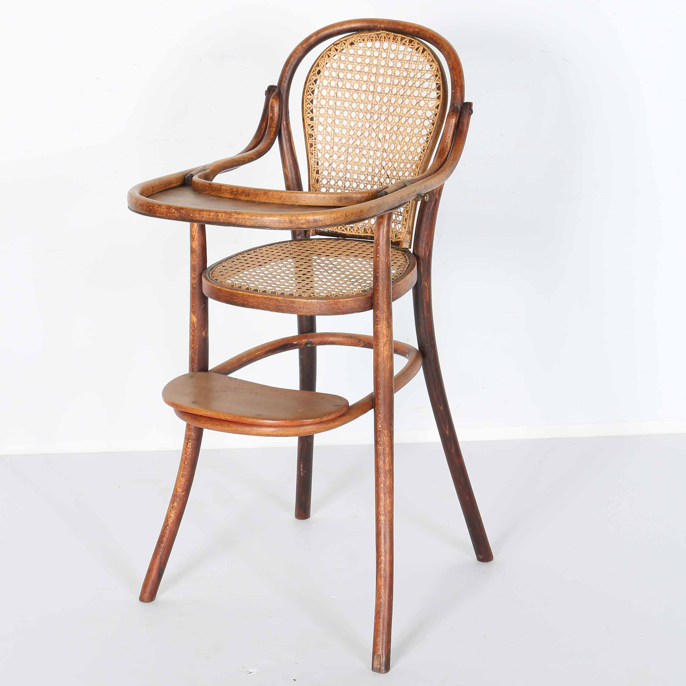 Late 19th To Early 20th Century Bentwood High Chair ...