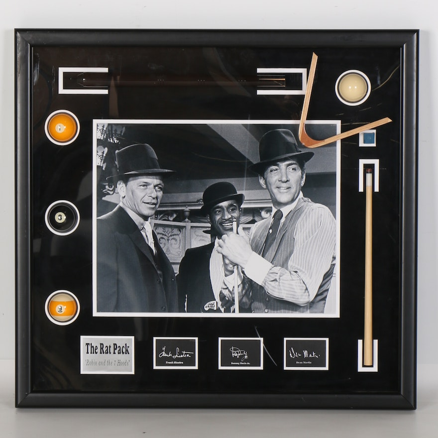 Framed Rat Pack Photograph with Signatures : EBTH