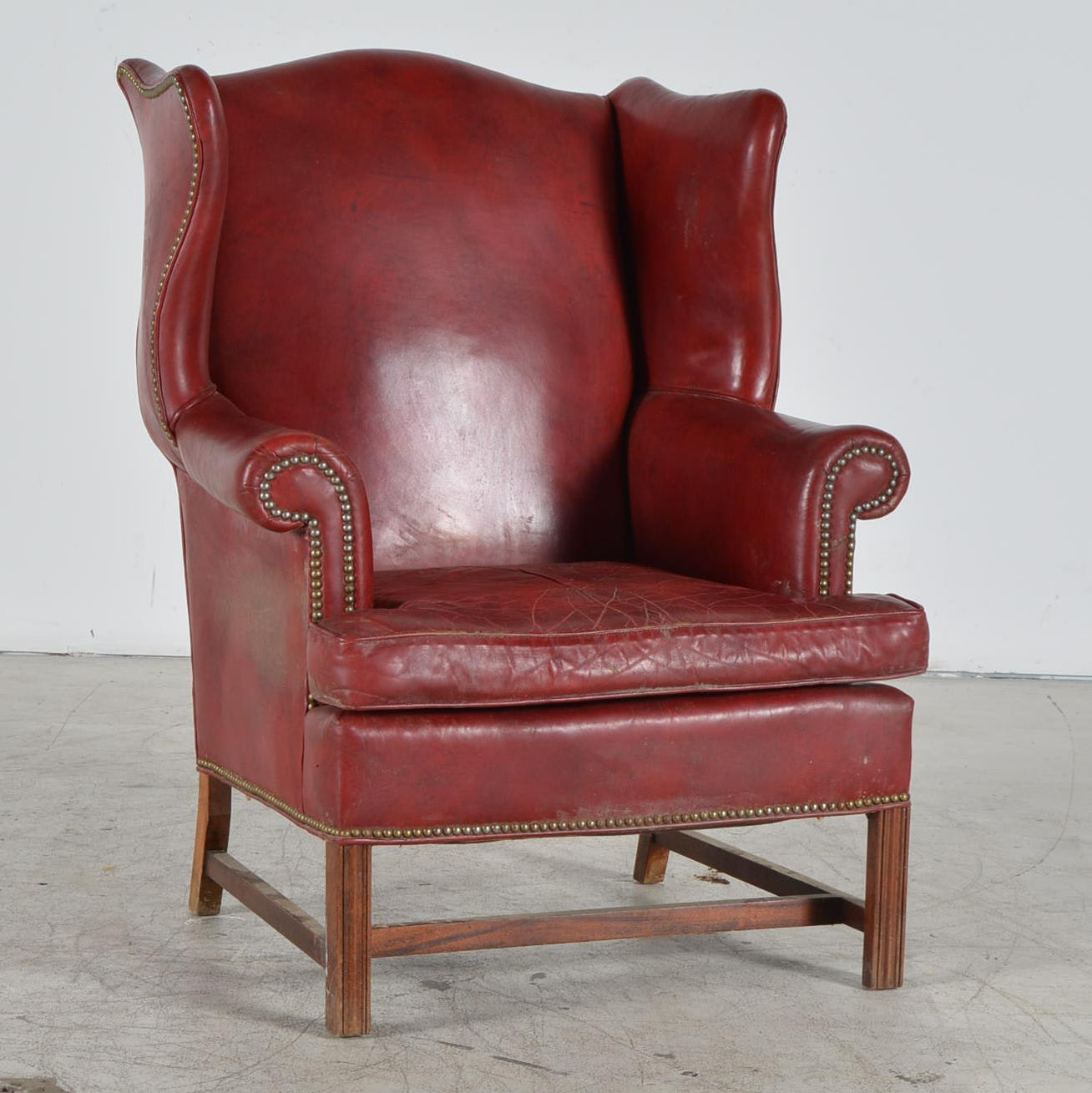 Old Hickory Tannery Leather Wingback Chair ...
