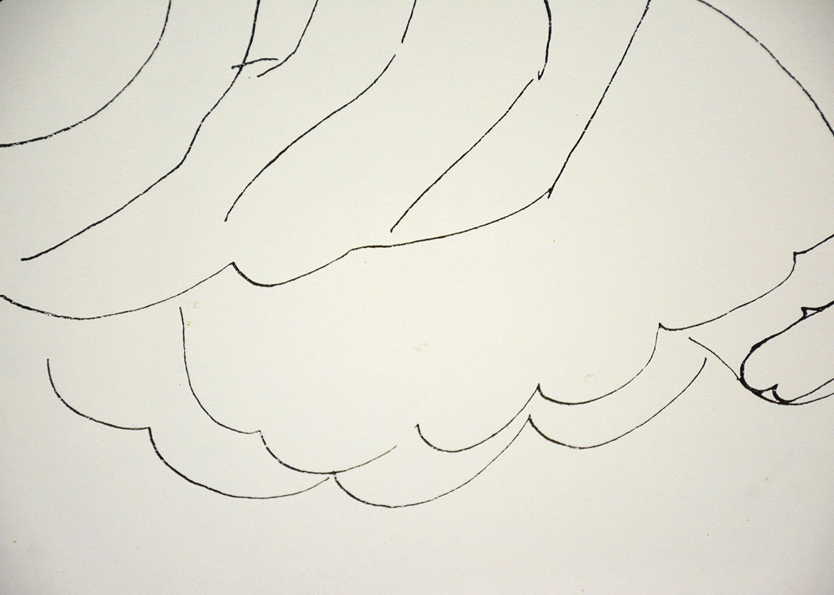 Matisse Contour Line Drawing : Framed lithograph of a matisse line drawing ebth