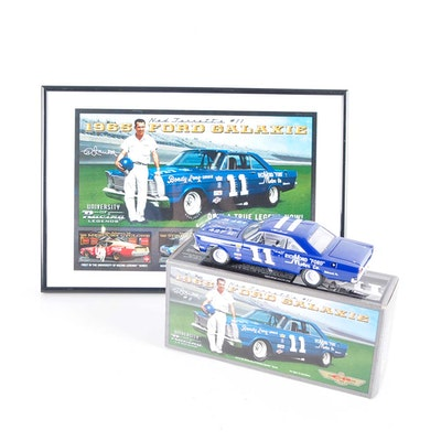 Signed Die-Cast Ned Jarrett '65 Ford Galaxie