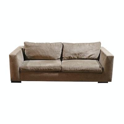 Contemporary purple velvet sofa ebth for Grey and purple sofa