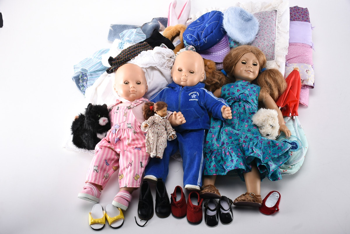 Collection of Bitty Baby and American Girl Dolls and ...