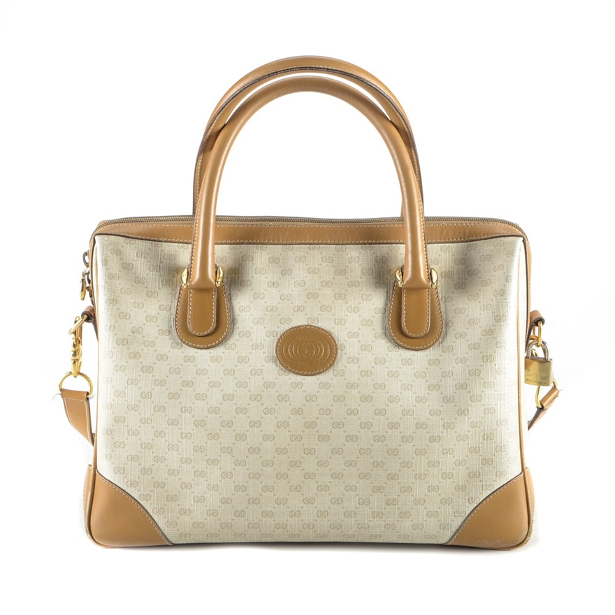 e8371d9f770 Vintage Gucci Signature GG Coated Canvas Doctor Bag   EBTH
