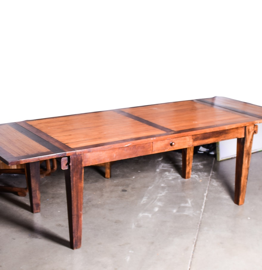 Dining room table with two extension leaves ebth for Dining room table 2
