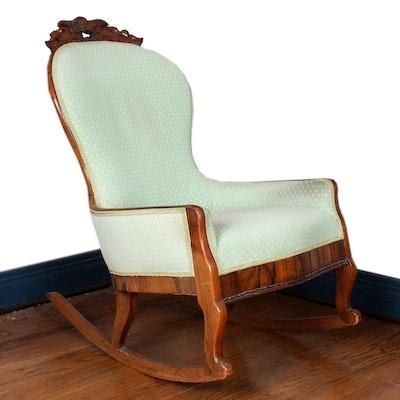 Vintage Berkey And Gay Rattan Wood Rocking Chair Ebth