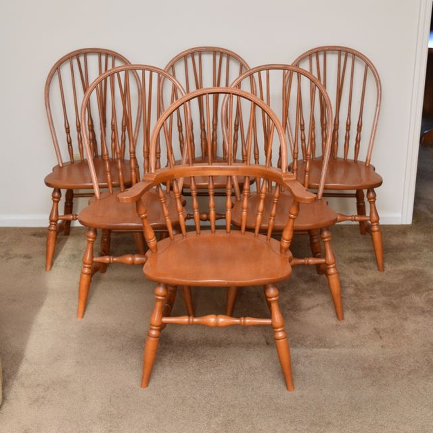 Six Tell City Windsor Style Chairs Ebth