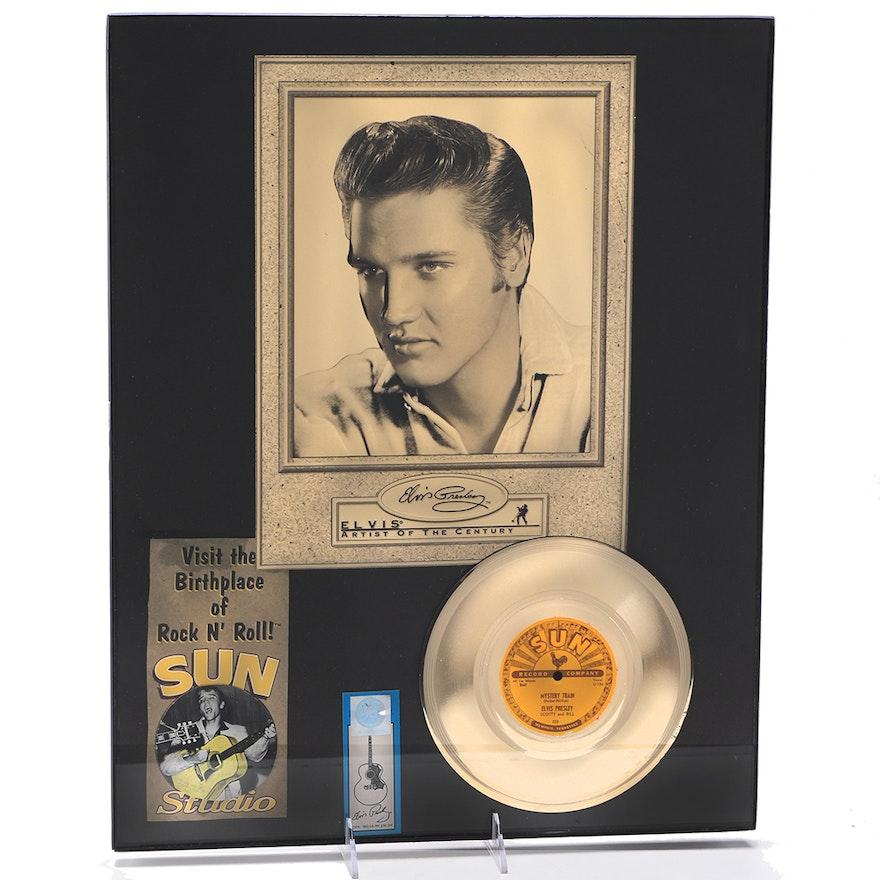 Framed Elvis Presley Sun Records Memorabilia : EBTH