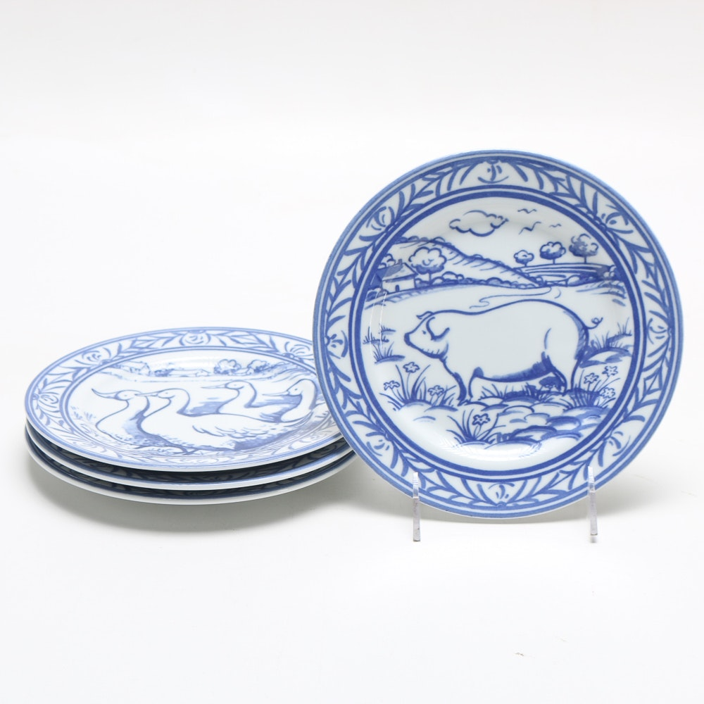 William Sonoma Brittany Farm Plate Set ... & William Sonoma Brittany Farm Plate Set : EBTH