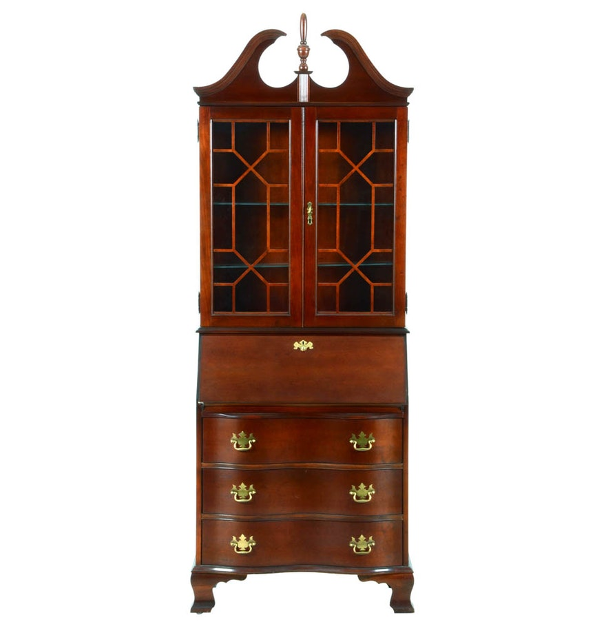 Jasper Curio Cabinet Jasper Cabinet Chippendale Style Secretary Desk Ebth