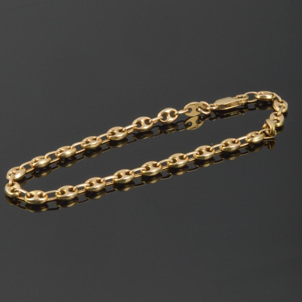 14k Yellow Gold Gucci Link Bracelet Ebth