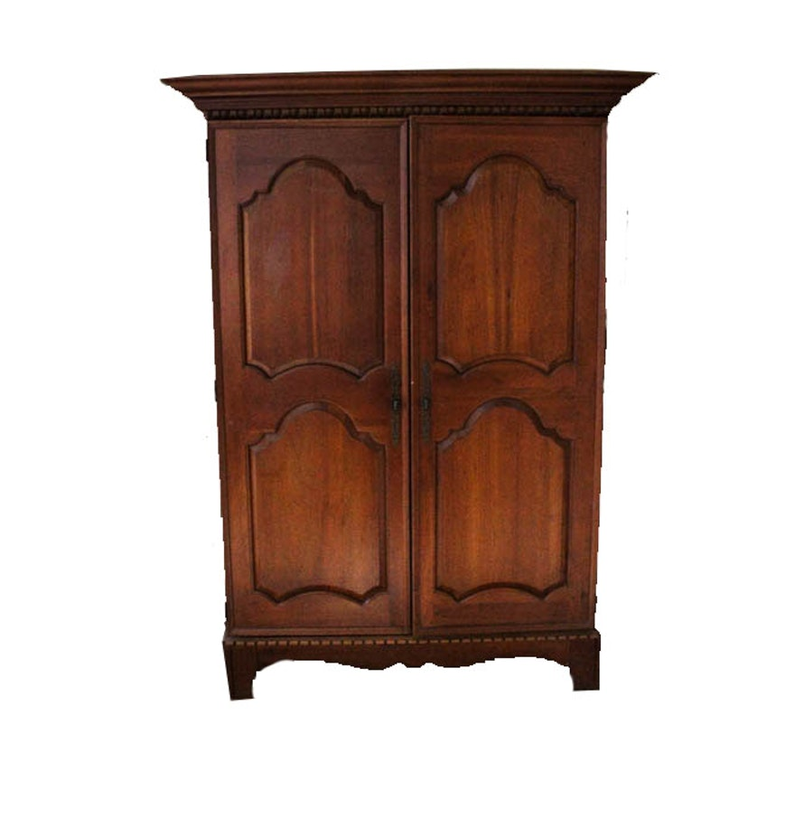 traditional french style cherry armoire ebth. Black Bedroom Furniture Sets. Home Design Ideas