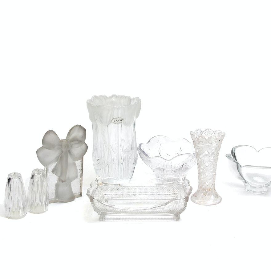 Pressed glass decor including block lead crystal vase ebth pressed glass decor including block lead crystal vase reviewsmspy