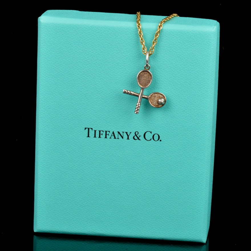 11bf5f1b82ae6 Tiffany & Co. Sterling Silver Charm with 14k Gold Chain
