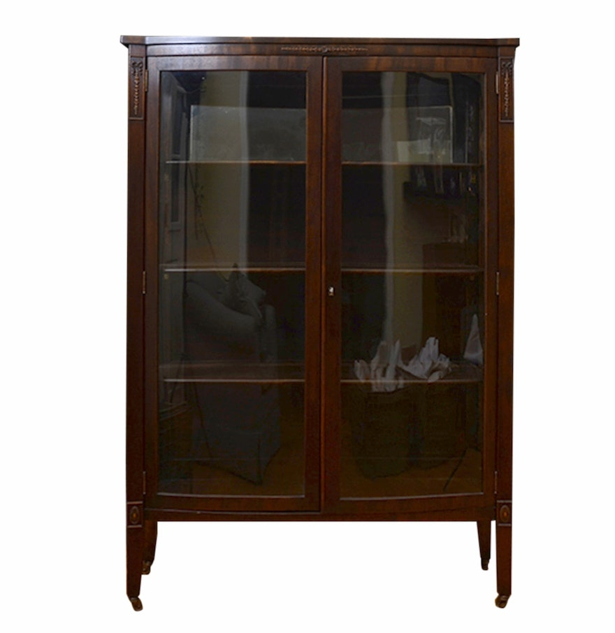 Wooden China Cabinet ~ Vintage wooden china cabinet ebth