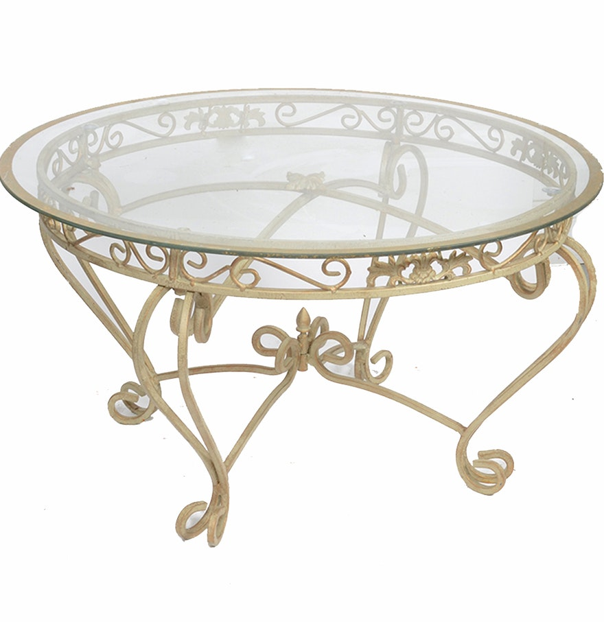 Metal And Glass Coffee Table EBTH