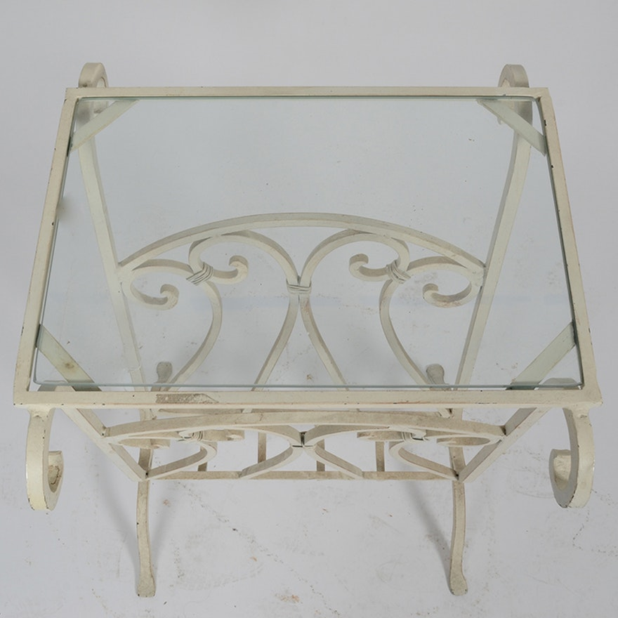 Metal accent table with magazine rack ebth for 12 x 12 accent table