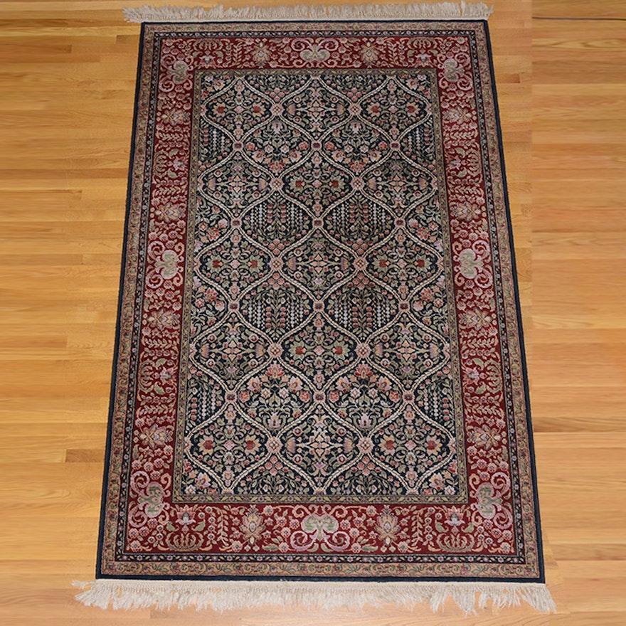 "Hand Knotted Indo Persian Obeetee Wool Area Rug Ebth: Karastan ""Kirman"" Rug"