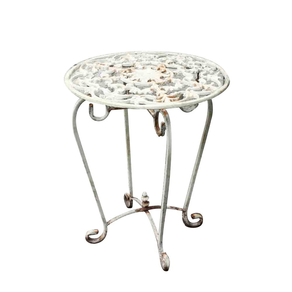 Vintage Metal Patio Side Table ...