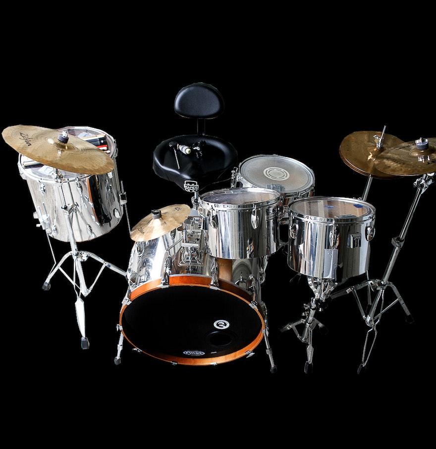 Yamaha Drum Accessories Parts : yamaha drum set with accessories including drum heads ebth ~ Vivirlamusica.com Haus und Dekorationen