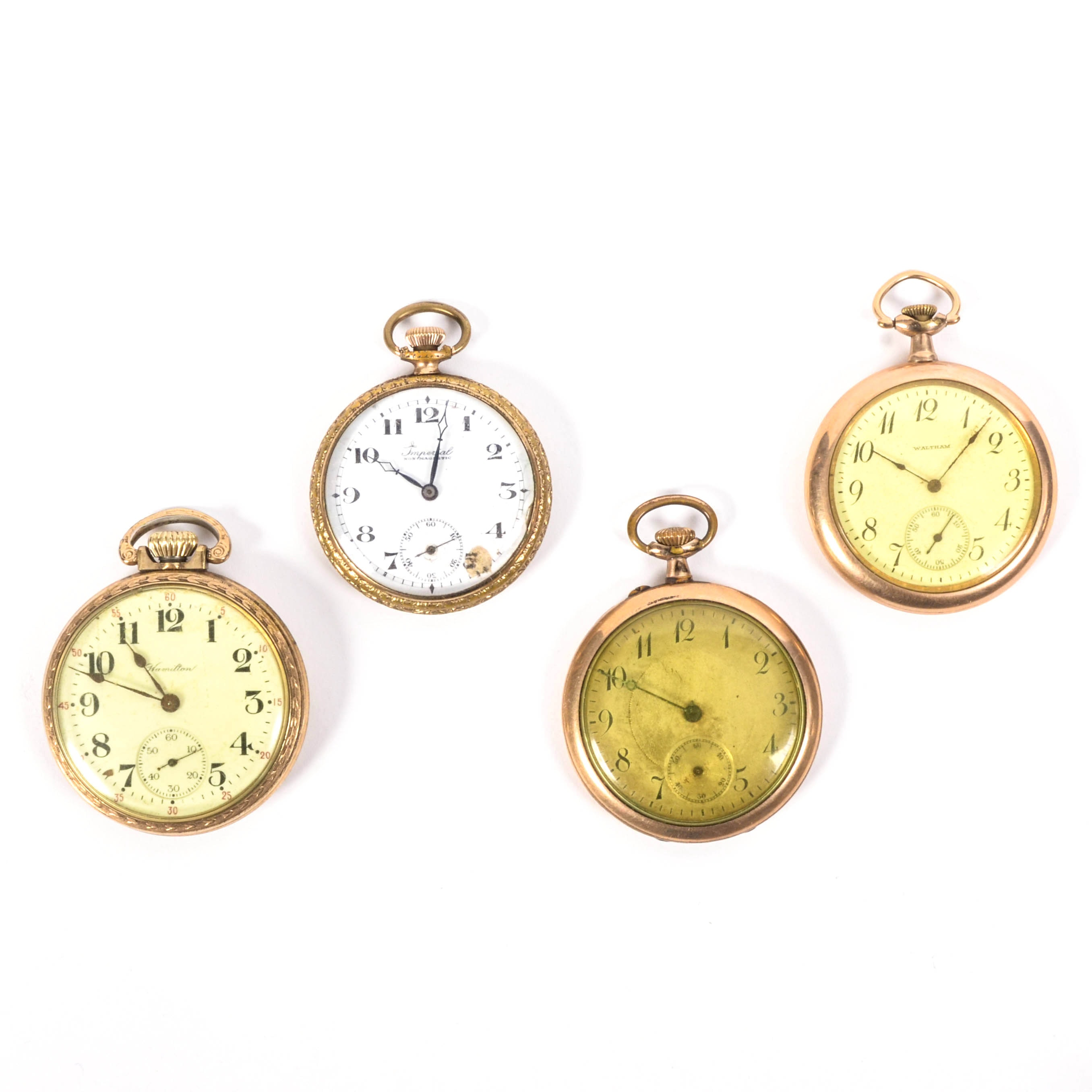 collection of vintage pocket watches ebth