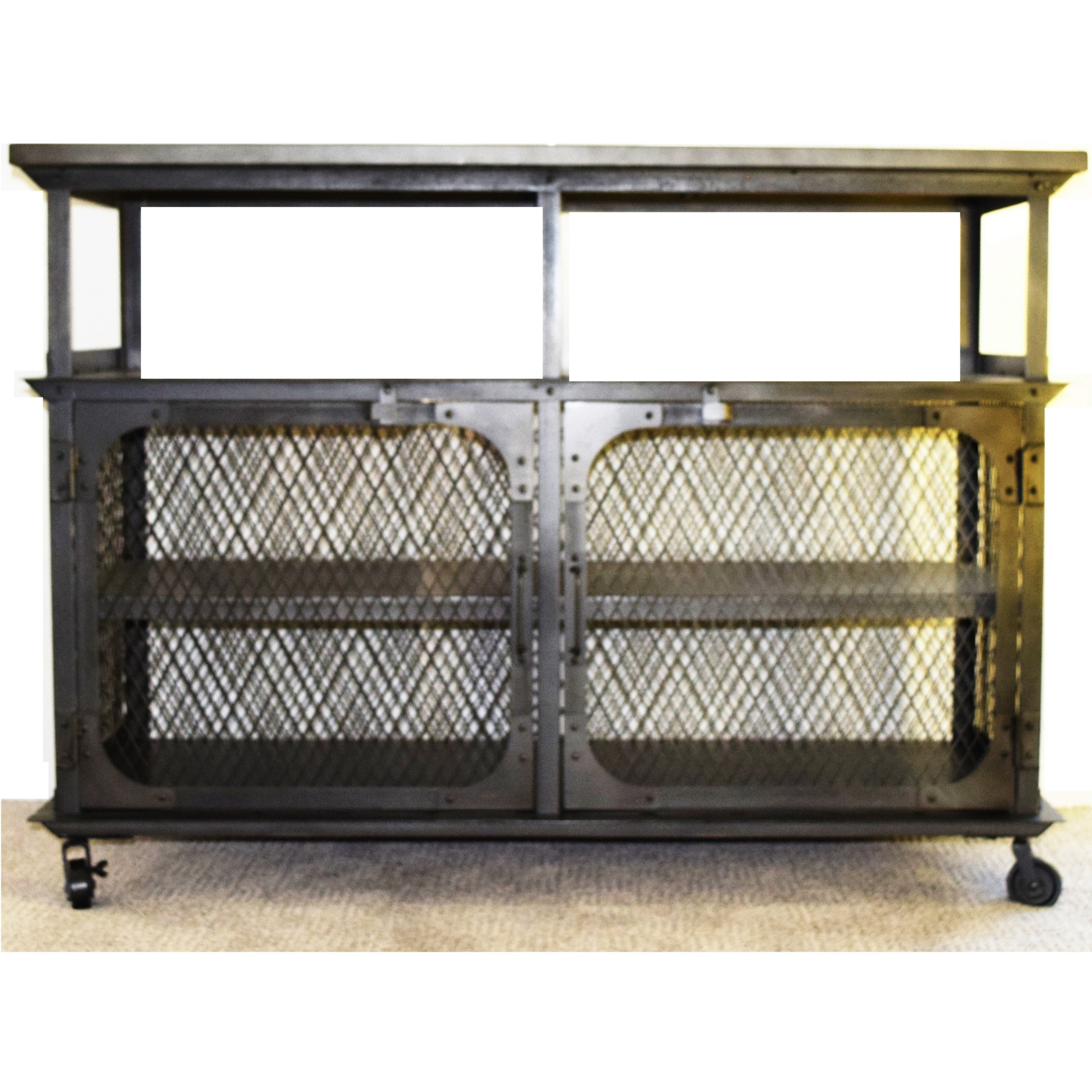 Industrial Metal Mesh Console Table ...