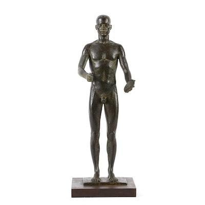 Miguel Garcia Delgado Limited Edition Bronze Sculpture of Nude Discus Thrower