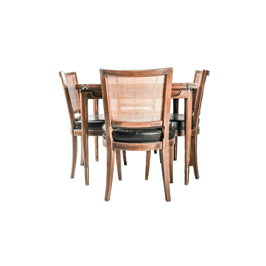 Wooden Dining Room Table And Matching Chairs